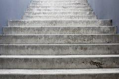 Escadaria concreta cinzenta Foto de Stock Royalty Free