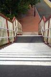 Escadaria da estação de comboio imagens de stock