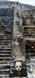 Escadaria da pirâmide de Teotihuacan imagens de stock royalty free