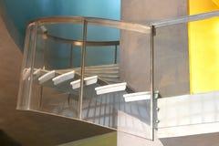 Escadaria de aço e de vidro fotografia de stock