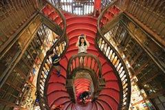 Escadaria de Lello e Irmao da livraria, Porto, Portugal Fotos de Stock