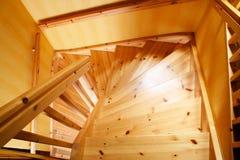 Escadaria de madeira Imagens de Stock
