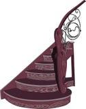 Escadaria de madeira decorativa do vetor Imagem de Stock Royalty Free