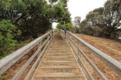 Escadaria de madeira exterior Fotografia de Stock Royalty Free