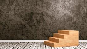 Escadaria de madeira na sala Imagem de Stock