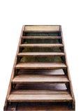 Escadaria de madeira para cobrir o sucesso Imagens de Stock Royalty Free