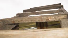 Escadaria de madeira que vai ao céu Foto de Stock