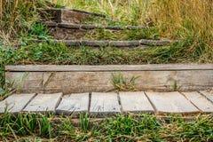 Escadaria de madeira velha Imagem de Stock Royalty Free
