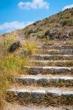 Escadaria de pedra em Grécia Imagens de Stock Royalty Free
