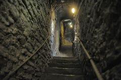 Escadaria de pedra medieval Fotos de Stock