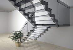 Escadaria de vidro Fotos de Stock Royalty Free