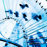 Escadaria de vidro moderna Imagem de Stock