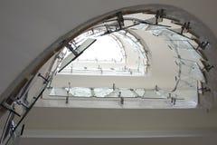 Escadaria de vidro moderna da vista superior Fotografia de Stock Royalty Free