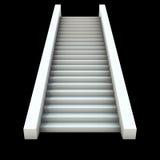 escadaria do branco 3D Fotografia de Stock