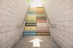 Escadaria do conceito das malas de viagem Imagens de Stock