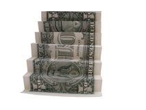 Escadaria do dinheiro Fotografia de Stock