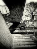 Escadaria do estação de caminhos-de-ferro Foto de Stock Royalty Free