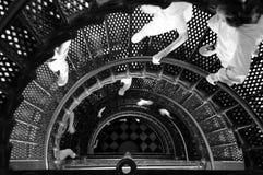Escadaria do farol fotografia de stock royalty free