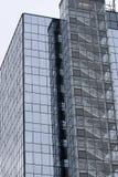 Escadaria do incêndio em um arranha-céus Imagens de Stock