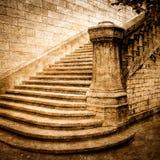 Escadaria do tijolo do vintage Imagem de Stock