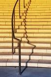 Escadaria e trilhos exteriores Fotos de Stock