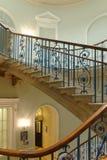 Escadaria elegante do victorian de Londres imagens de stock