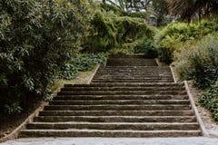 Escadaria em um parque em Barcelona fotografia de stock royalty free