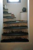 Escadaria em uma casa velha Fotos de Stock Royalty Free