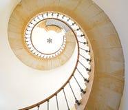 Escadaria espiral foto de stock