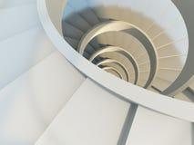 Escadaria espiral abstrata ilustração do vetor