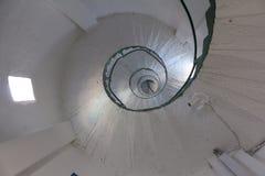 Escadaria espiral branca fotos de stock royalty free