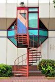 Escadaria espiral de aço pequena Imagens de Stock Royalty Free