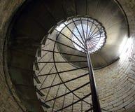 Escadaria espiral de pedra velha, fundo Imagem de Stock