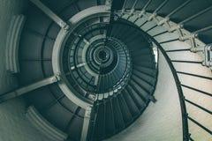 Escadaria espiral dentro do farol foto de stock royalty free