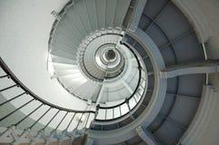 Escadaria espiral do farol fotografia de stock