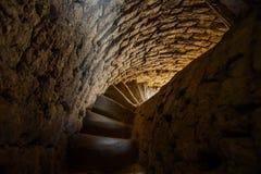 Escadaria espiral do minarete velho Imagens de Stock