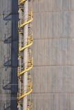 Escadaria espiral industrial Foto de Stock Royalty Free