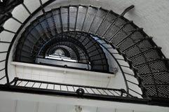 Escadaria espiral - luz de St Augustine FL fotos de stock