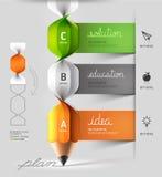 Escadaria espiral moderna Infographics do lápis. Foto de Stock Royalty Free
