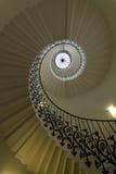 A escadaria espiral na casa da rainha, Reino Unido Imagem de Stock Royalty Free