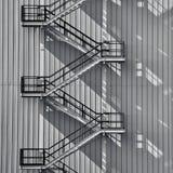 Escadaria exterior industrial Foto de Stock