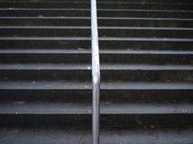 Escadaria gelada do cimento Fotos de Stock Royalty Free