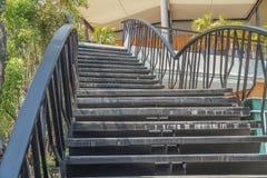 Escadaria inoxidável imagem de stock