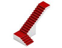 A escadaria isométrica, 3d rende a escadaria, escadaria metálica, st Imagens de Stock