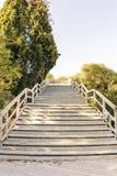 Escadaria longa Fotos de Stock