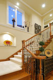 Escadaria luxuosa da casa Foto de Stock