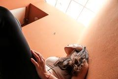 Escadaria melancólica Fotografia de Stock