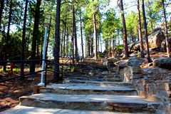 Escadaria memorável nacional do Monte Rushmore foto de stock royalty free