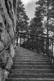Escadaria a muito ao alto fotos de stock royalty free