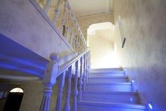 Escadaria na casa fotos de stock